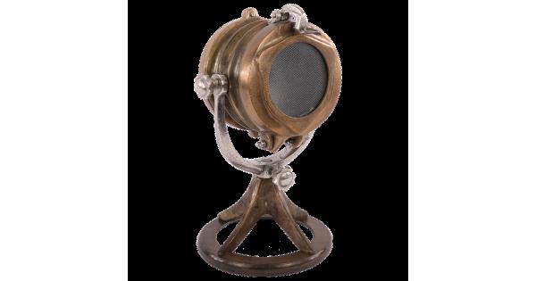 Tafellamp Piombino brons + ruw nickel