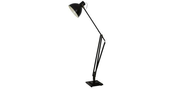 Vloerlamp EWOUT – Zwart Met Brons