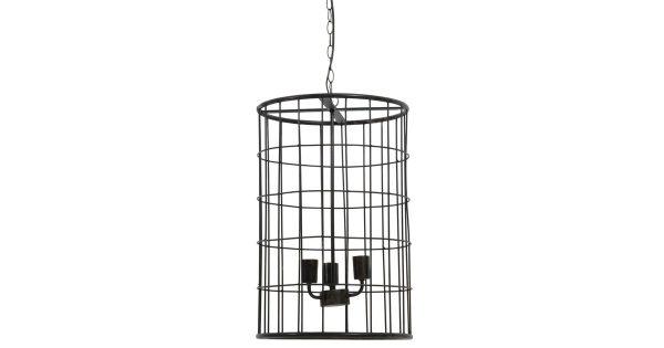 Hanglamp BINTY – zwart zink – M