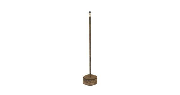Vloerlamp BRAM – roest met hout weather barn