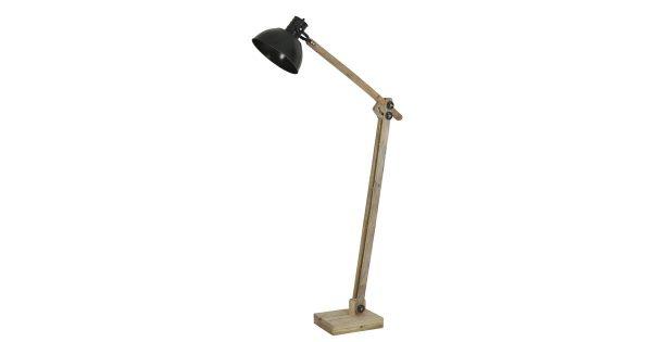 Vloerlamp EKERD – hout-leger groen