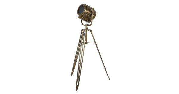 Vloerlamp WILSON – Ruw Antiek-brons