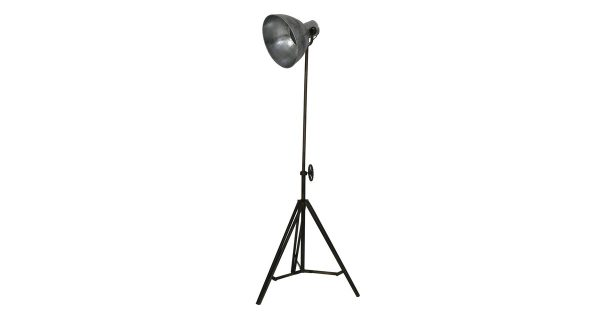 Vloerlamp JUNKO – Zwart Vintage Zilver