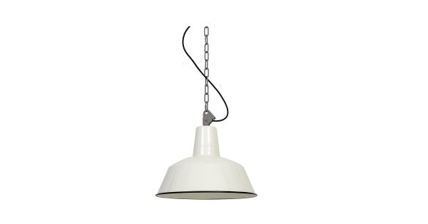 Dutchsteel Hanglamp Ryan staal off white