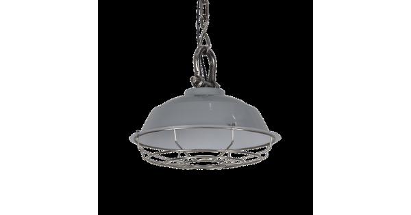 Hanglamp Milan 36 cm Glans Licht Grijs