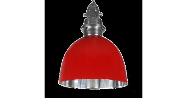 Hanglamp Baretti 35 cm Glans Rood + Mat Chrome binnenkant