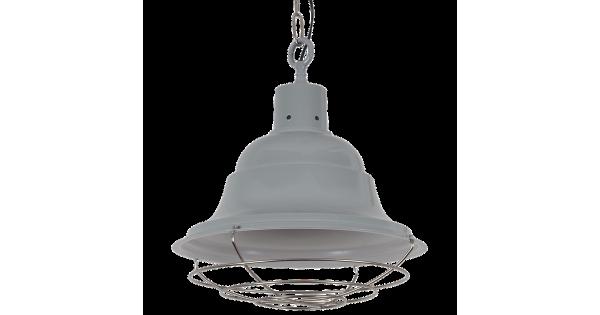 Hanglamp Goccia groot Glans Licht Grijs