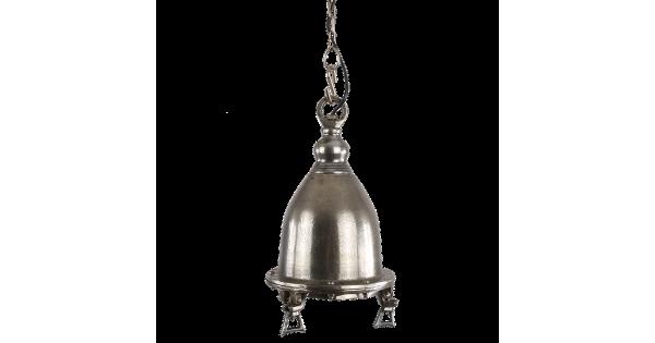 Hanglamp Como groot ruw nickel