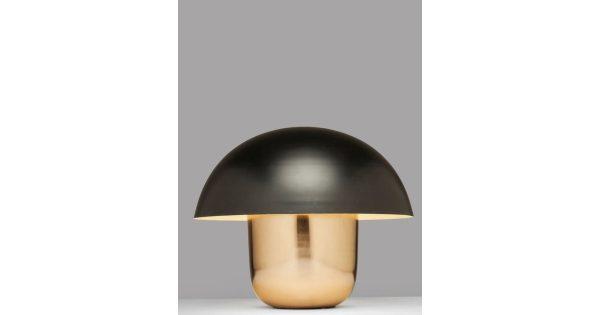 Kare Design Tafellamp Mushroom 1-Lichts Ø50 X H44 Cm – Koper Zwart