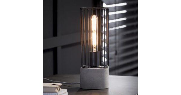 Tafellamp cilinder wire frame / Concrete