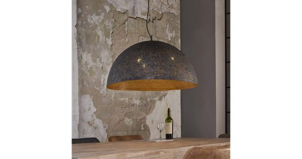Hanglamp Ø70 punch / Zwart bruin