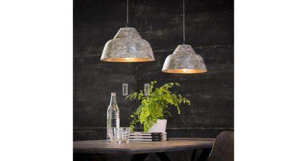 Hanglamp 2xØ30 verweerd / Verweerd koper