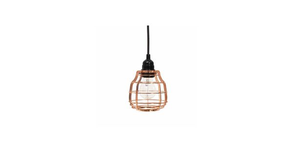 HKliving Lamp met Stekker 17 cm – Koper