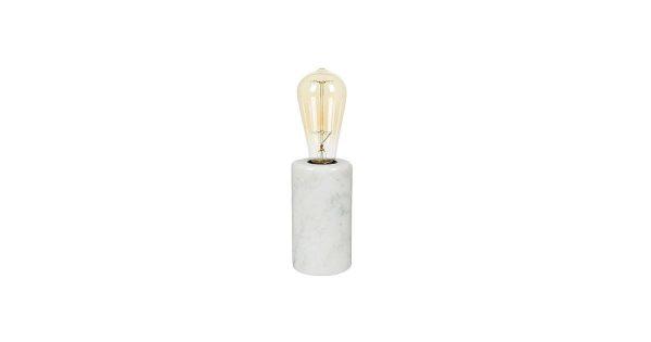 Braxton Marble Tafellamp 14 cm E27 – Wit