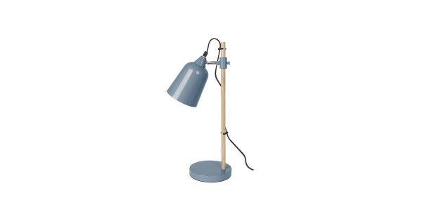 Leitmotiv Wood-like Tafellamp 49 cm – Blauw